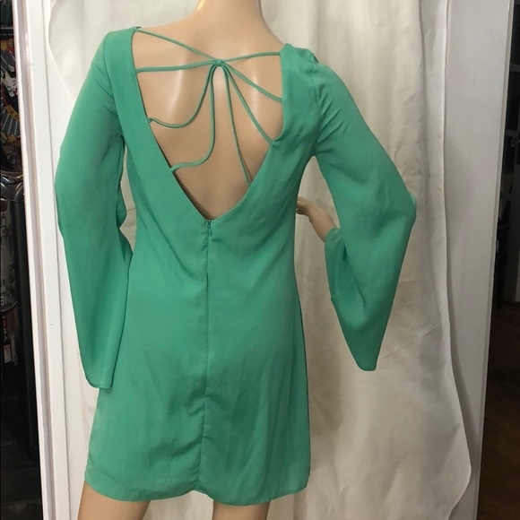 The Impeccable Pig Dresses & Skirts - Beautiful green silk/rayon backless dress Mod